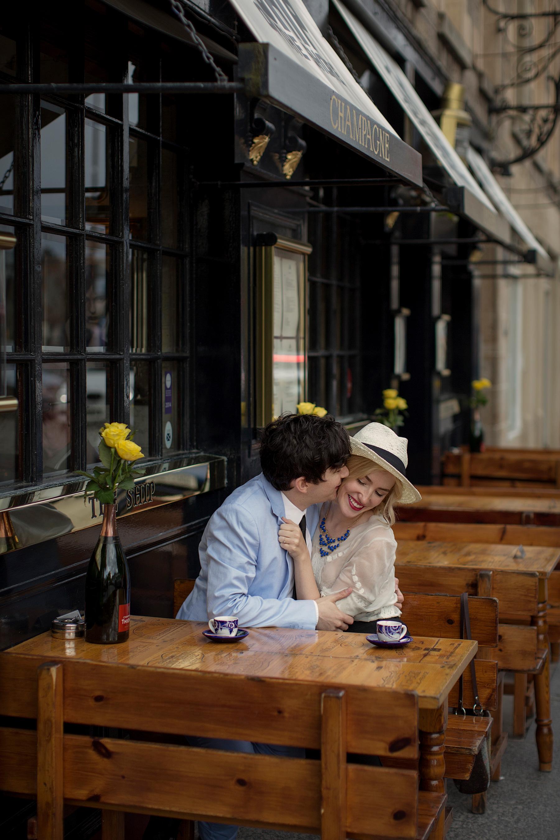 Jenni Melear & Stuart McLeod - shoot in Edinburgh © Paul Raeburn - wedding photographer Scotland