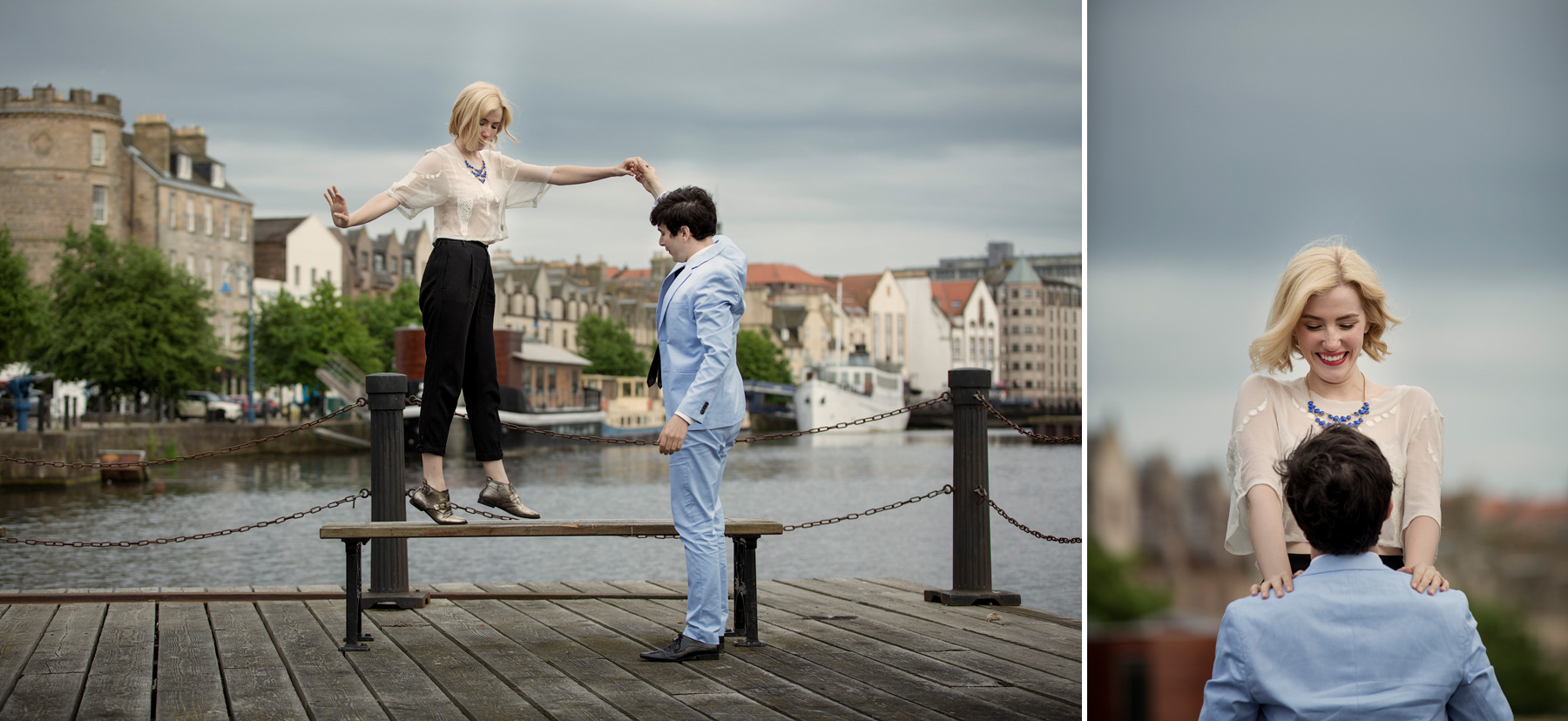 Leith Docks couple