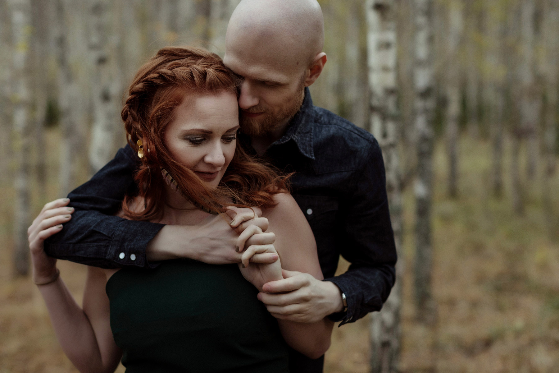 ginger couple fall portrait session