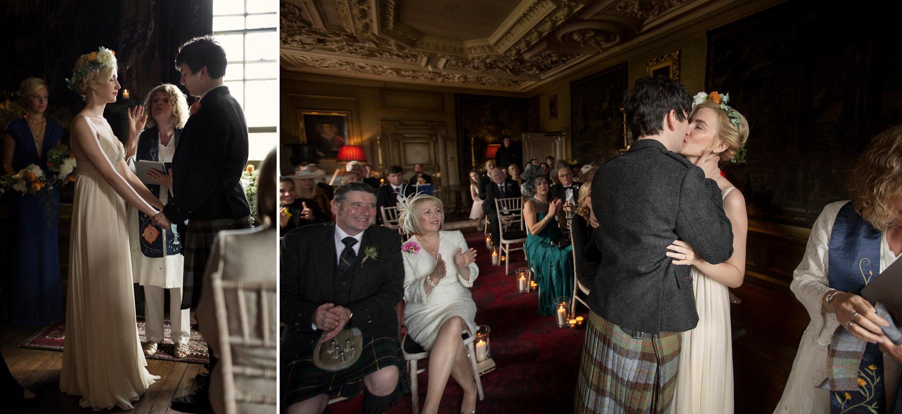 wedding ceremony at magician stuart mcleods wedding