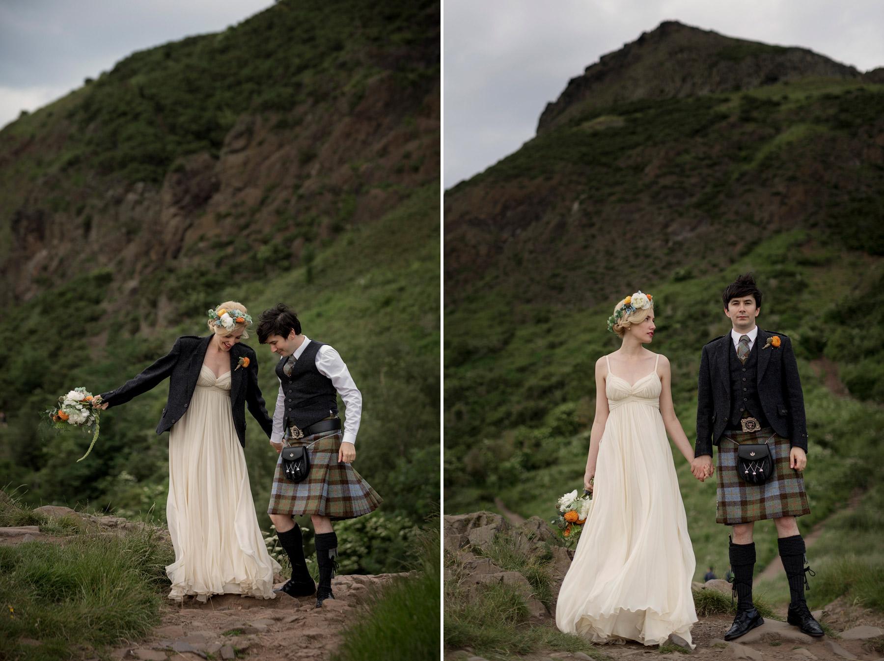 highland landscape wedding