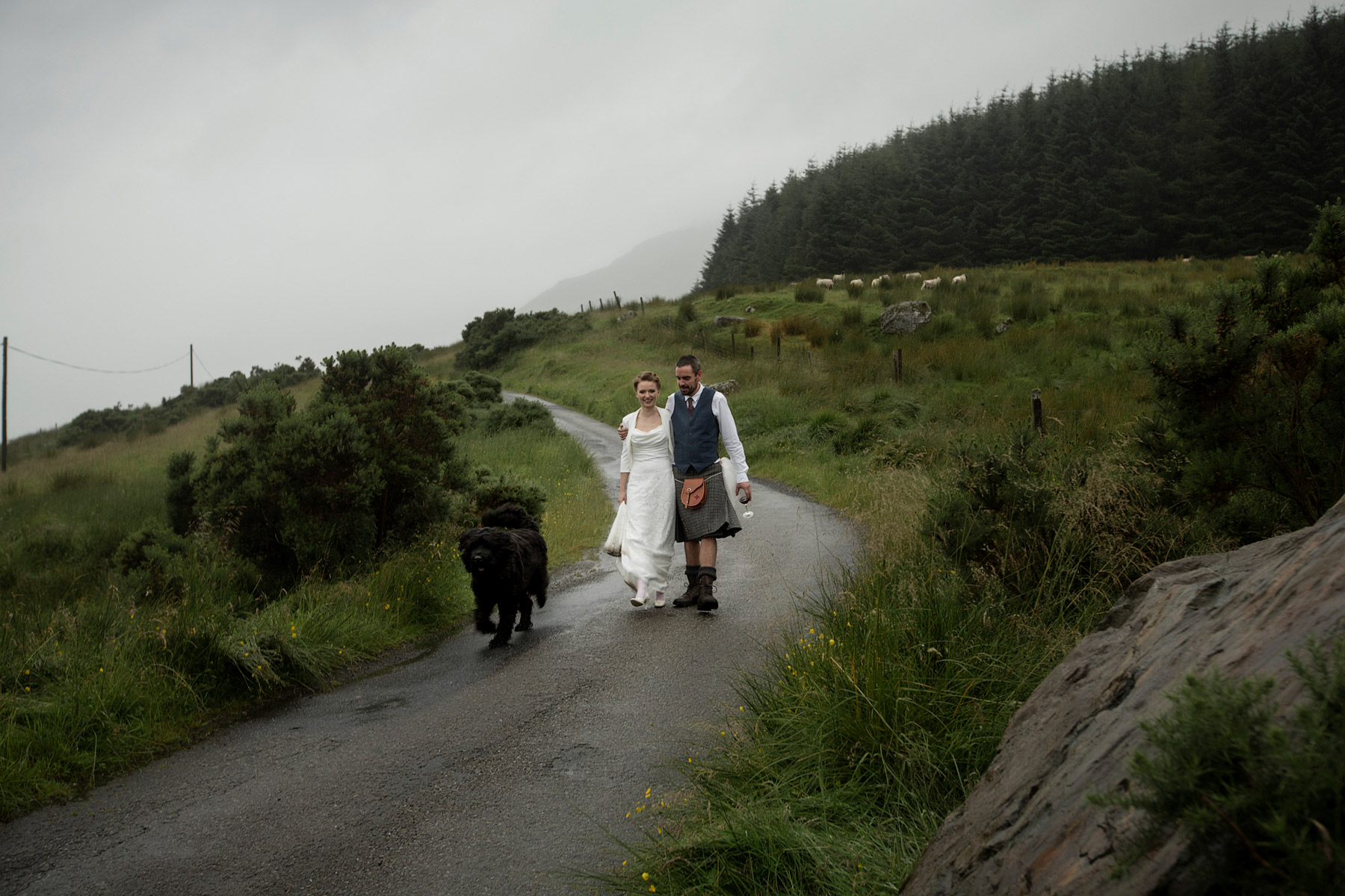 foggy scottish wedding