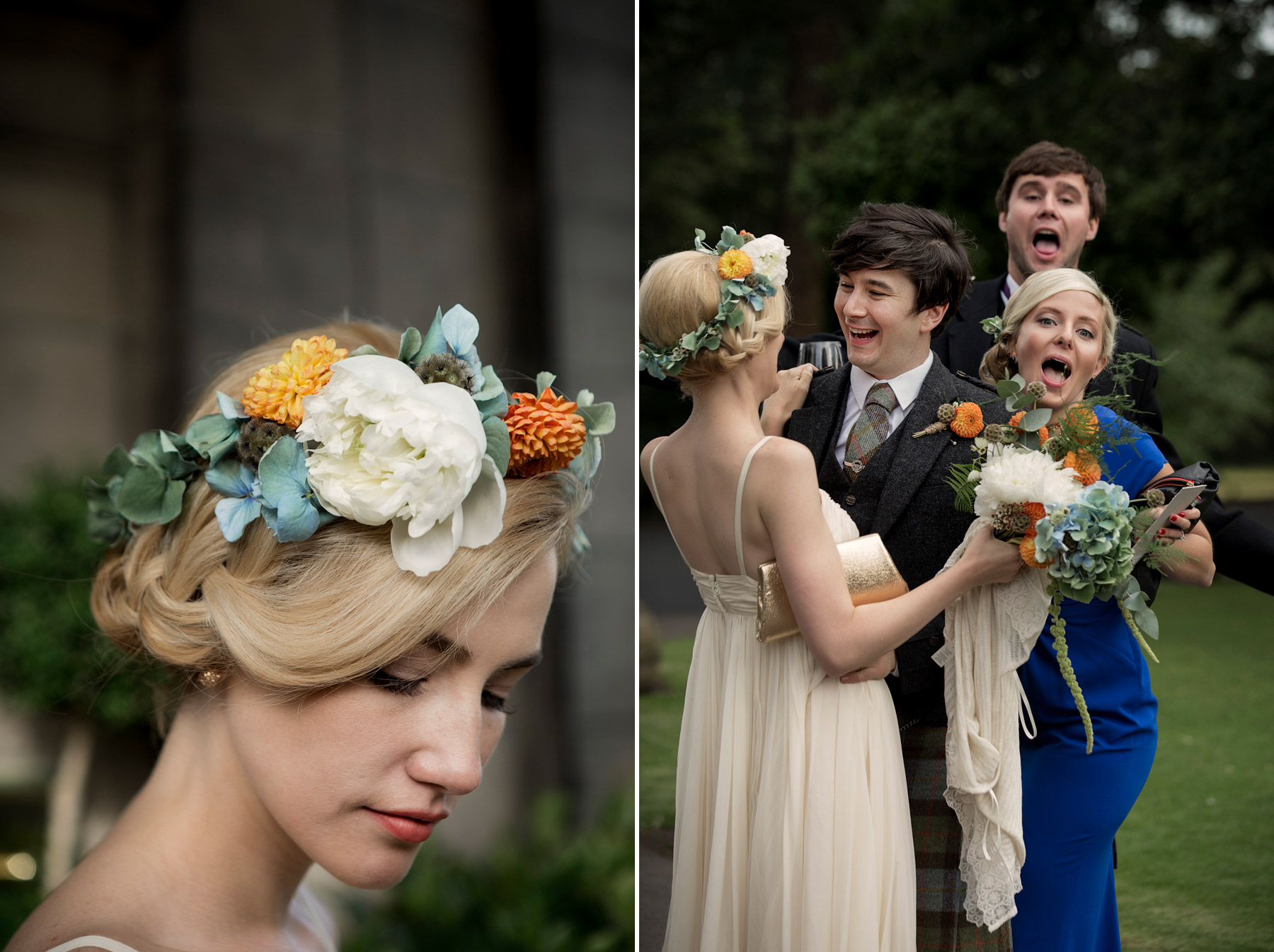 wedding photo bombing in scotland