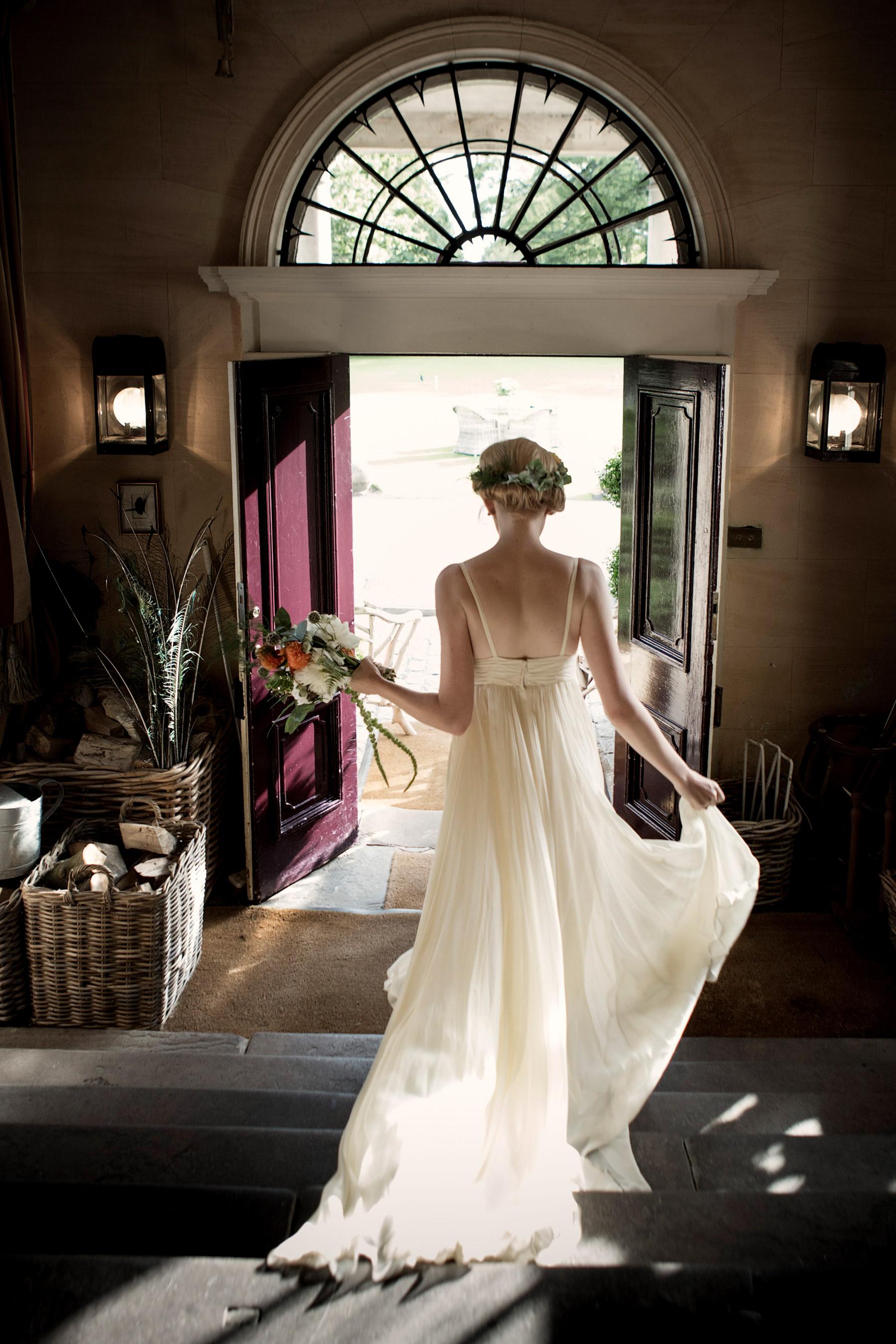 back of designer wedding dress