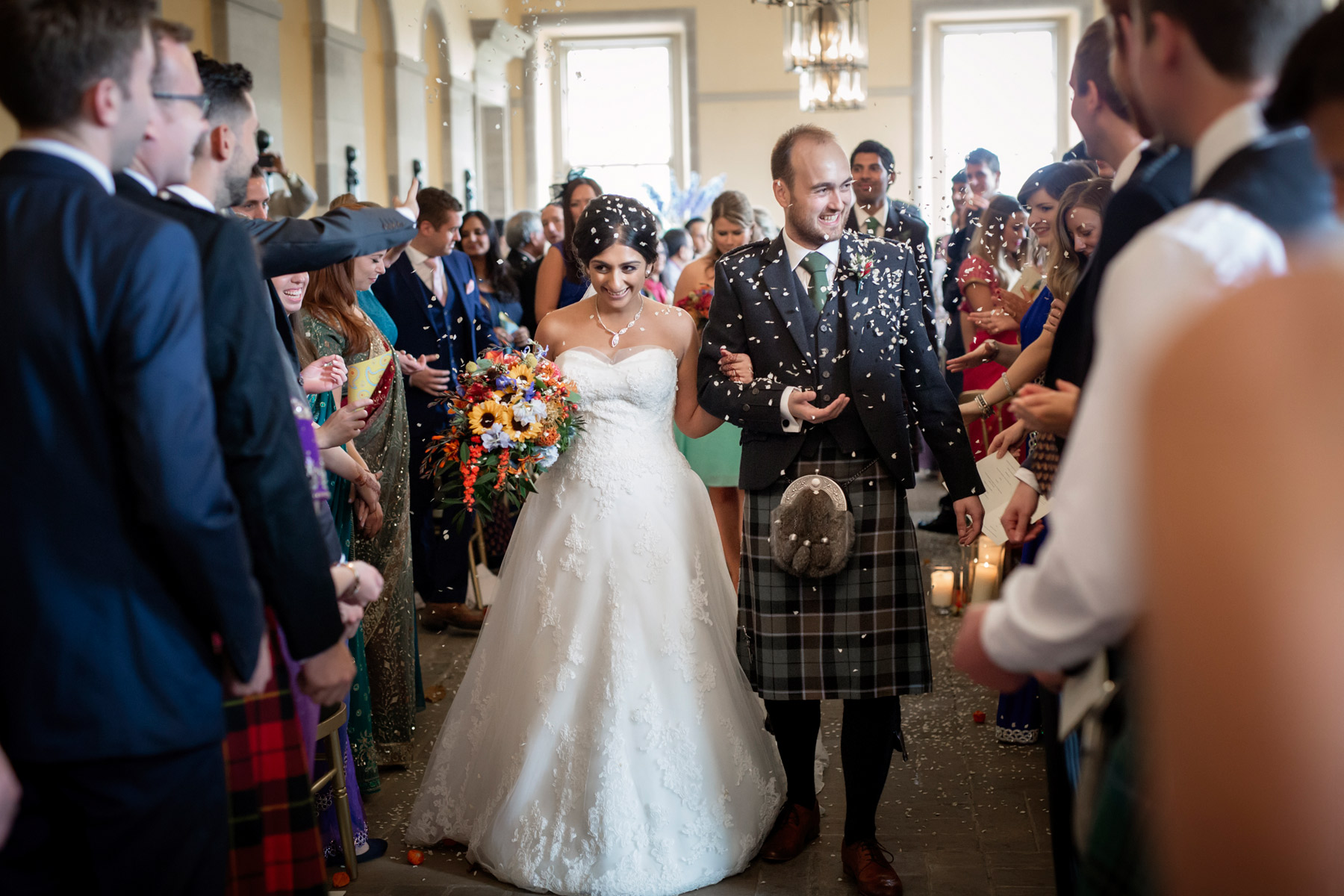 Just married at hopetoun house Scotland