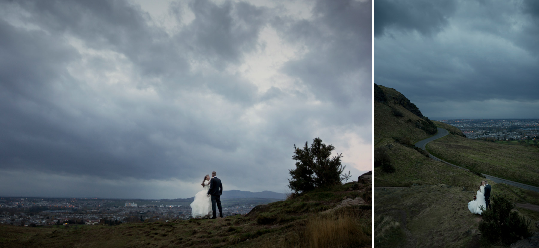 weddig portraits at twilight in scotland