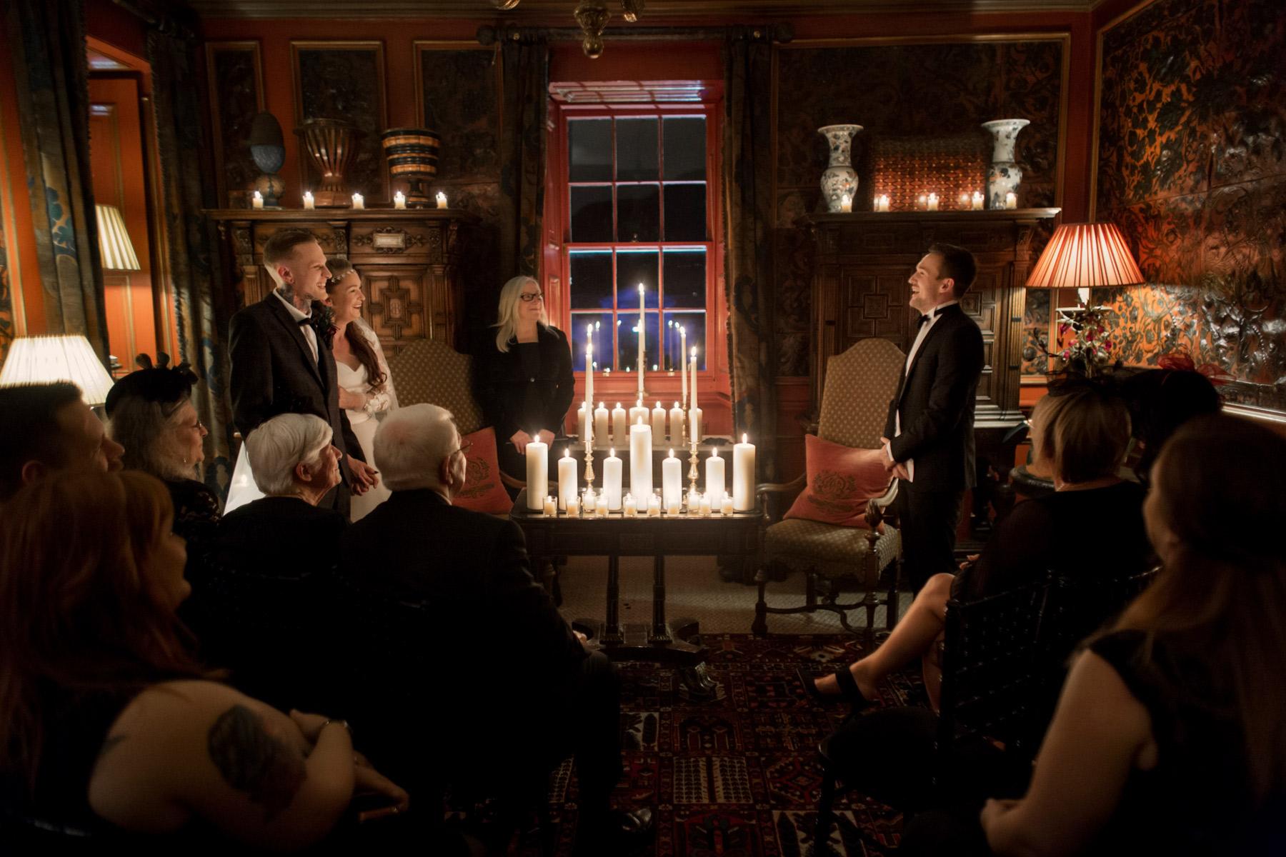 atmospheric wedding at prestonfiled scotland