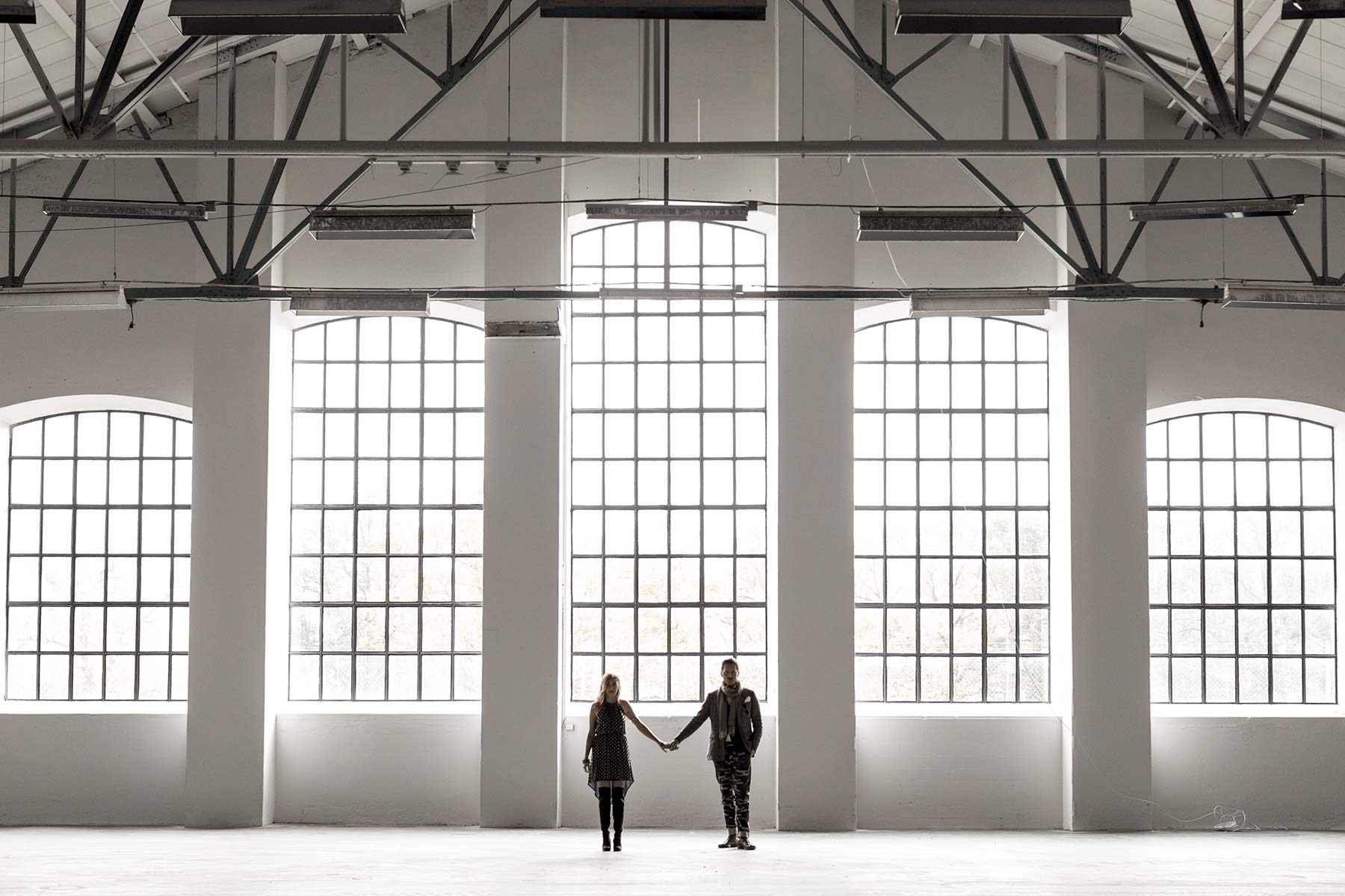 Couple, Urban, Engagement, Factory, Scotland, Wedding, Photography