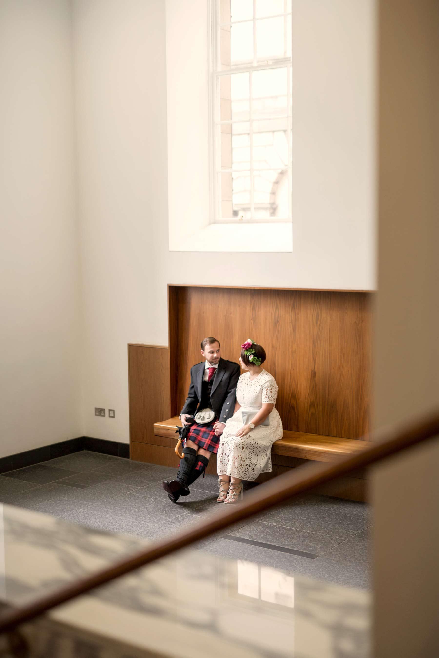 Bride, groom, elopement, Lothian Chambers, wedding, Edinburgh