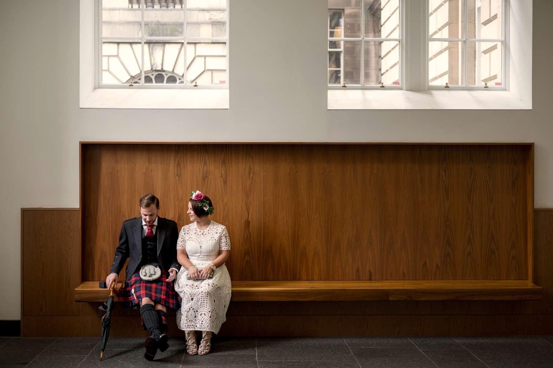 Bride, groom, wedding, Lothian Chambers, Edinburgh