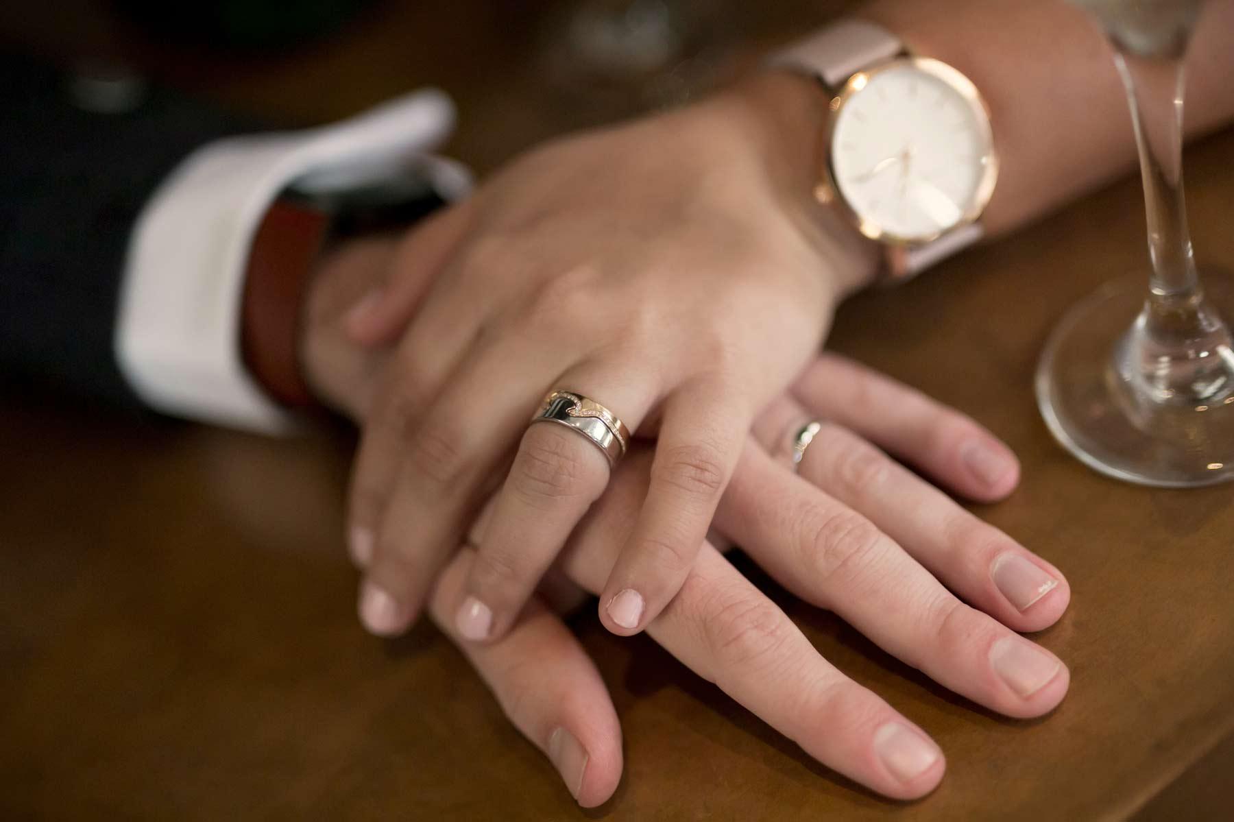 Details, wedding, ring, hands, bride, groom, Edinburgh