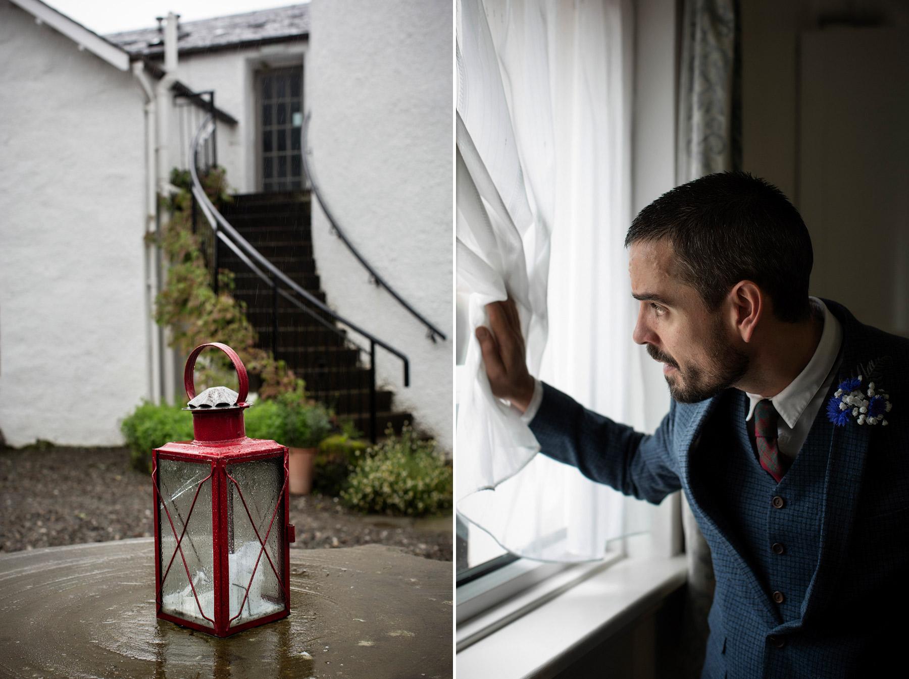 Rainy wedding in Scotland