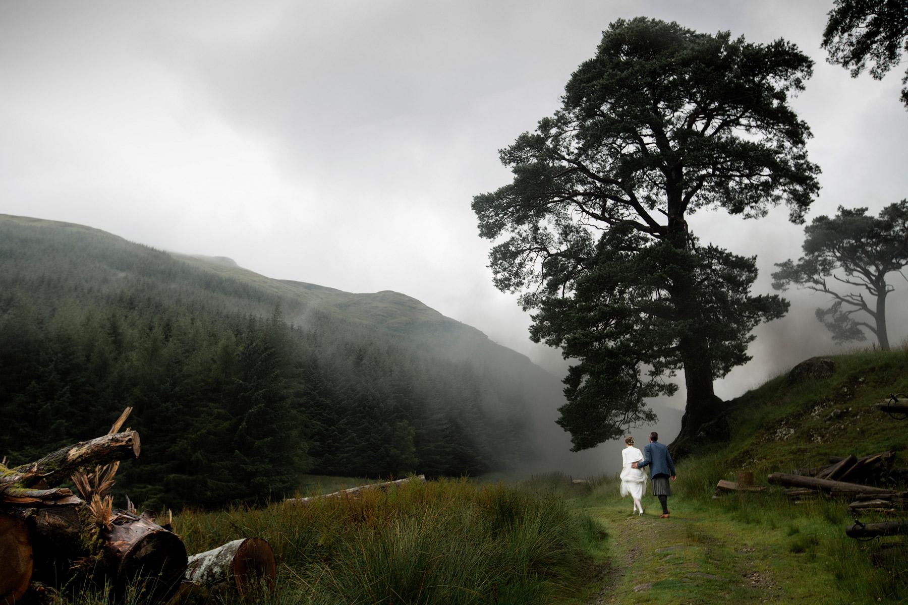 Misty Scotland wedding