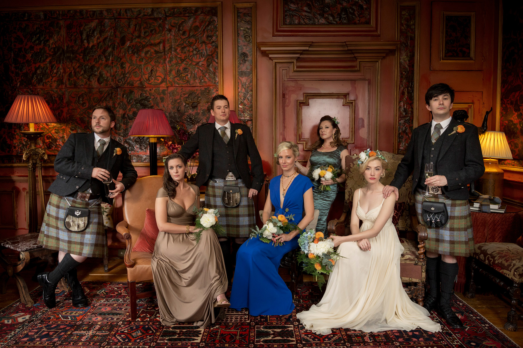 royal tenenbaums style wedding photo edinburgh, scotland