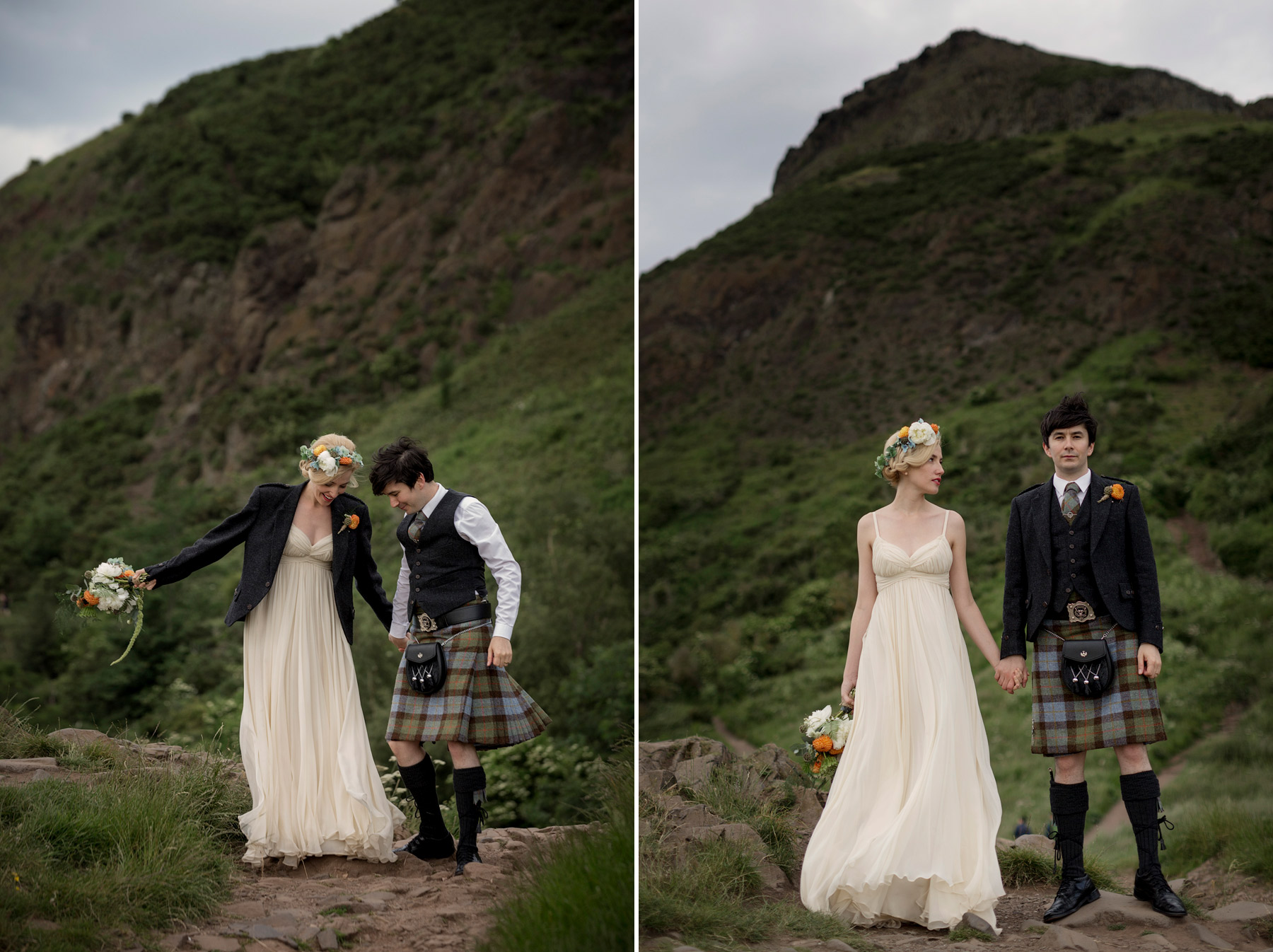 highland landscape wedding