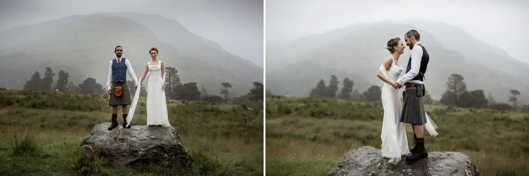 paul raeburn took couple to a rock at Monachyle Mhor