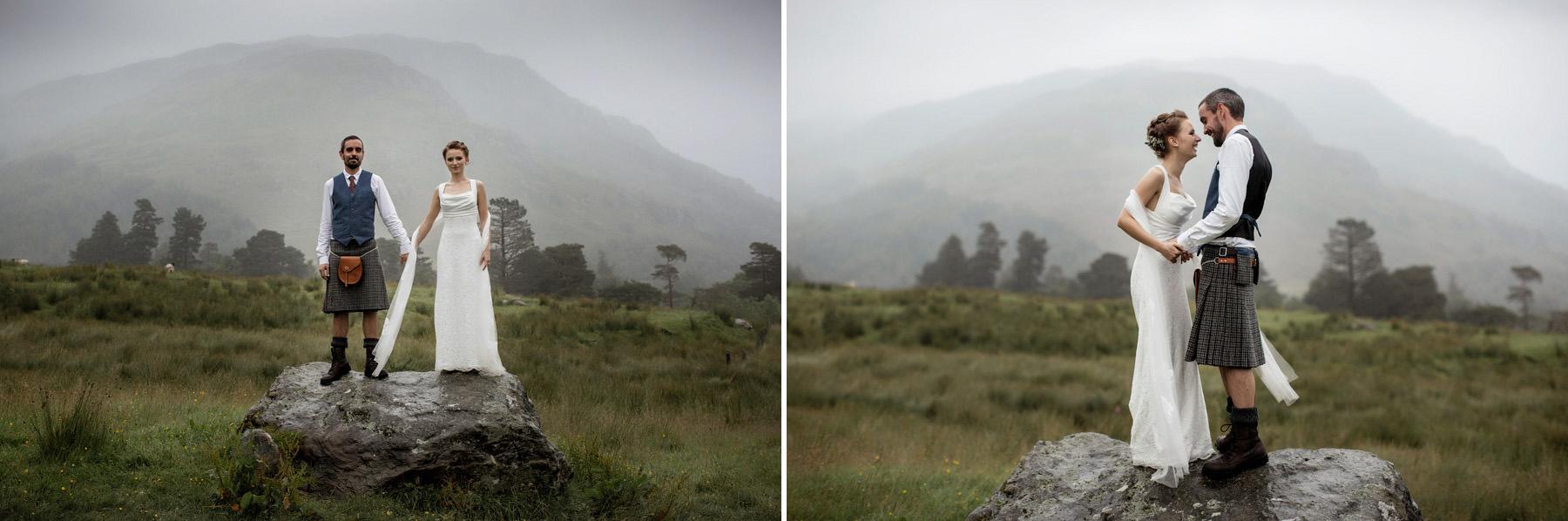 paul raeburn took couple to a rock at Monachyle Mhor