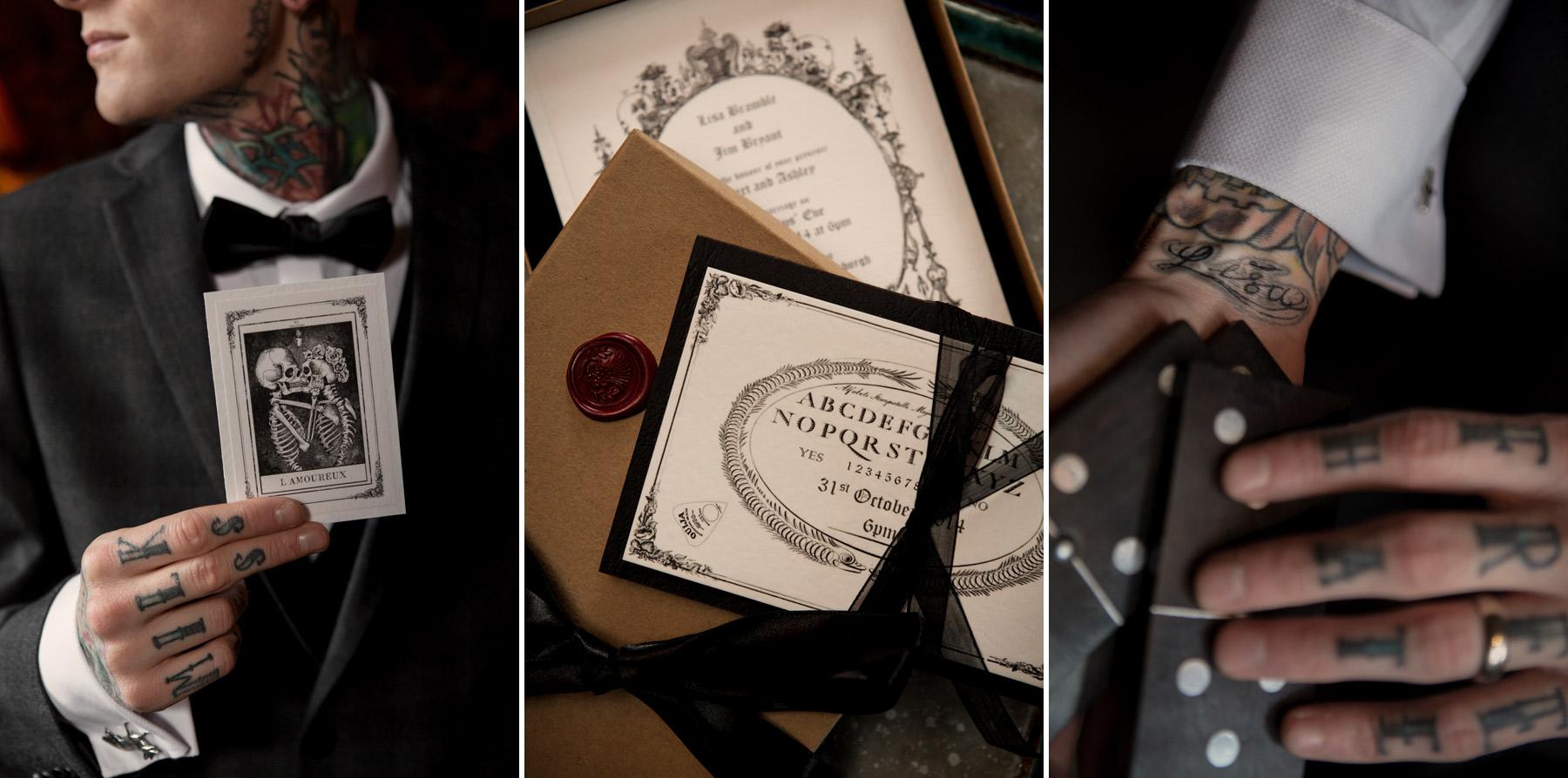 quirky wedding details at prestonfield