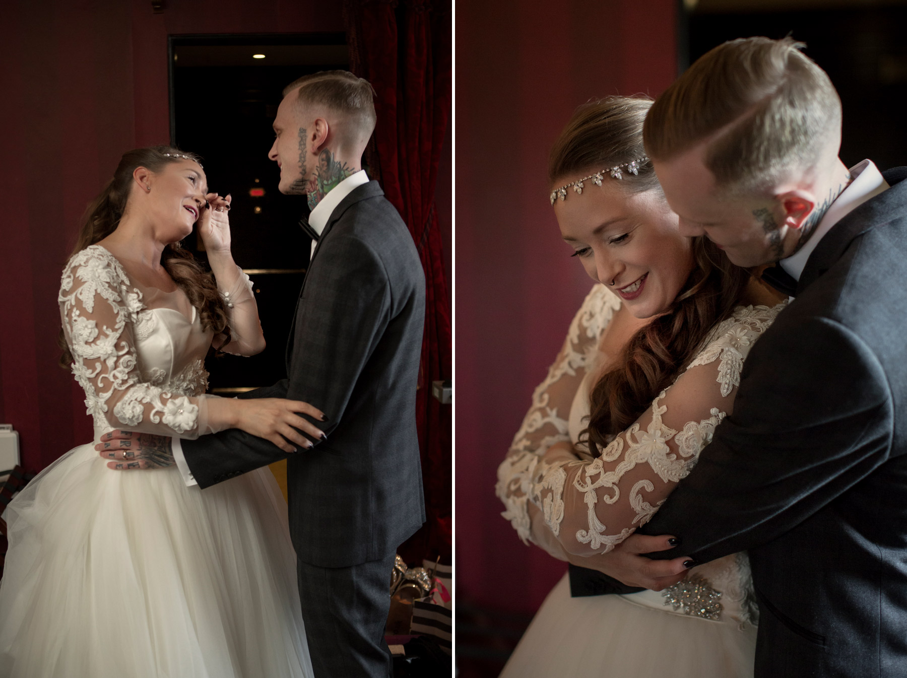 couple sees each other for the first time in edinburgh