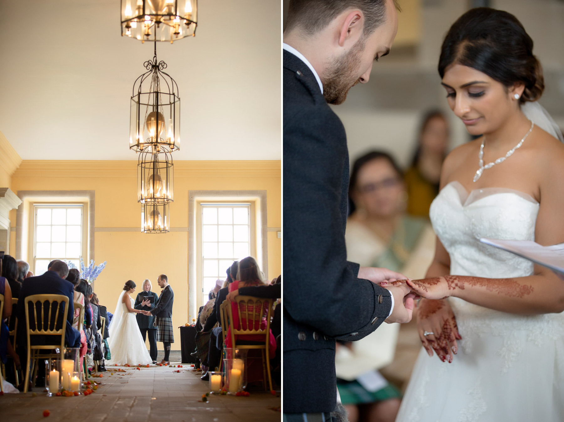 wedding vows at Hopetoun house Scotland