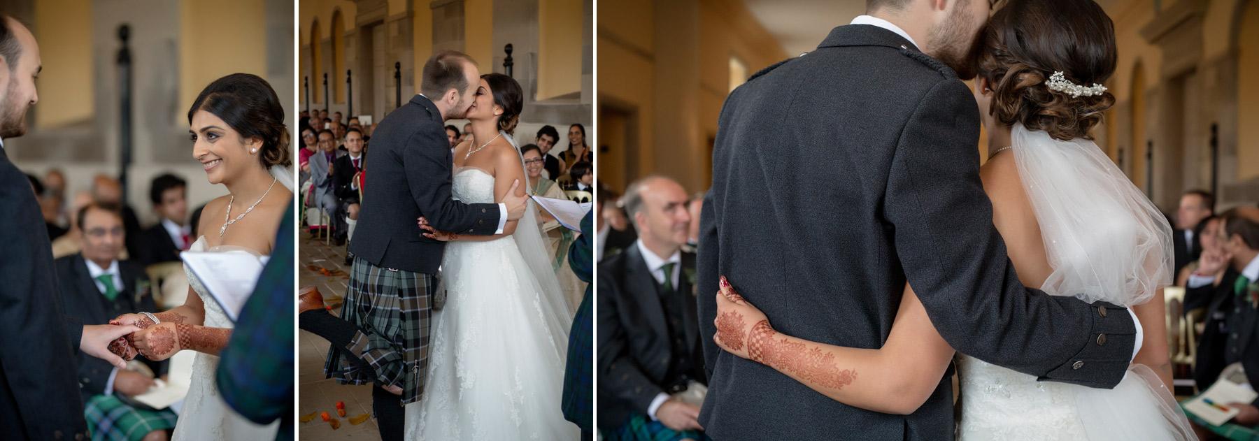 just married at hopetoun house scotland