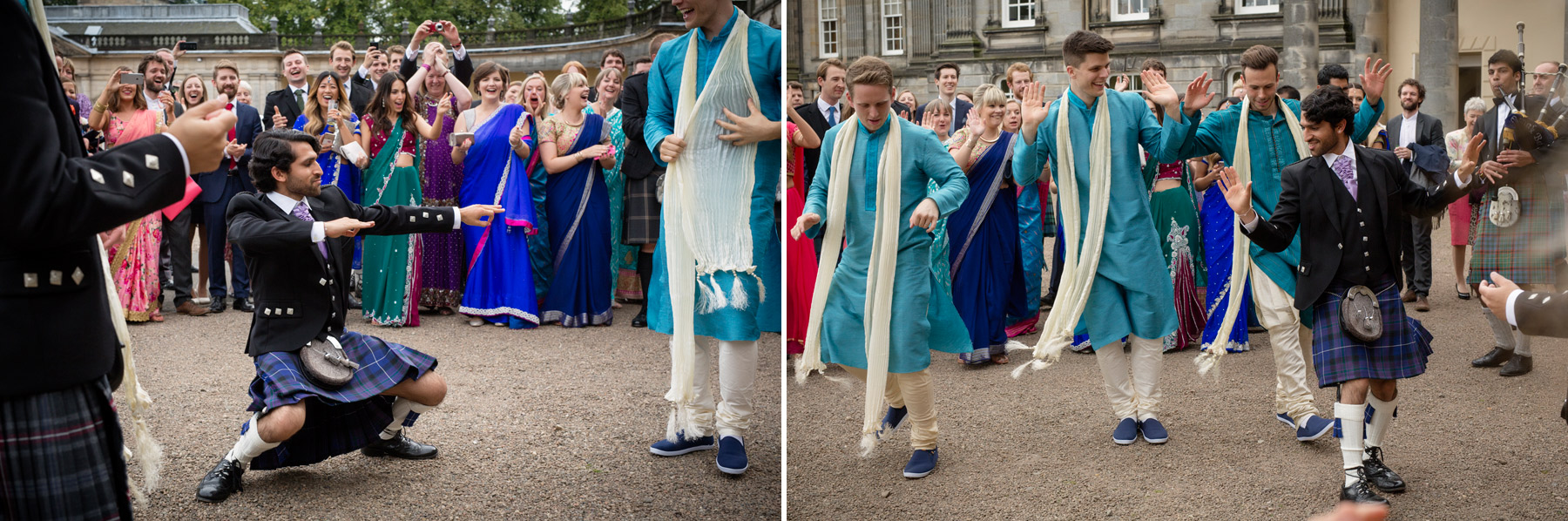 Bollywood dancing and kilts in Scotland