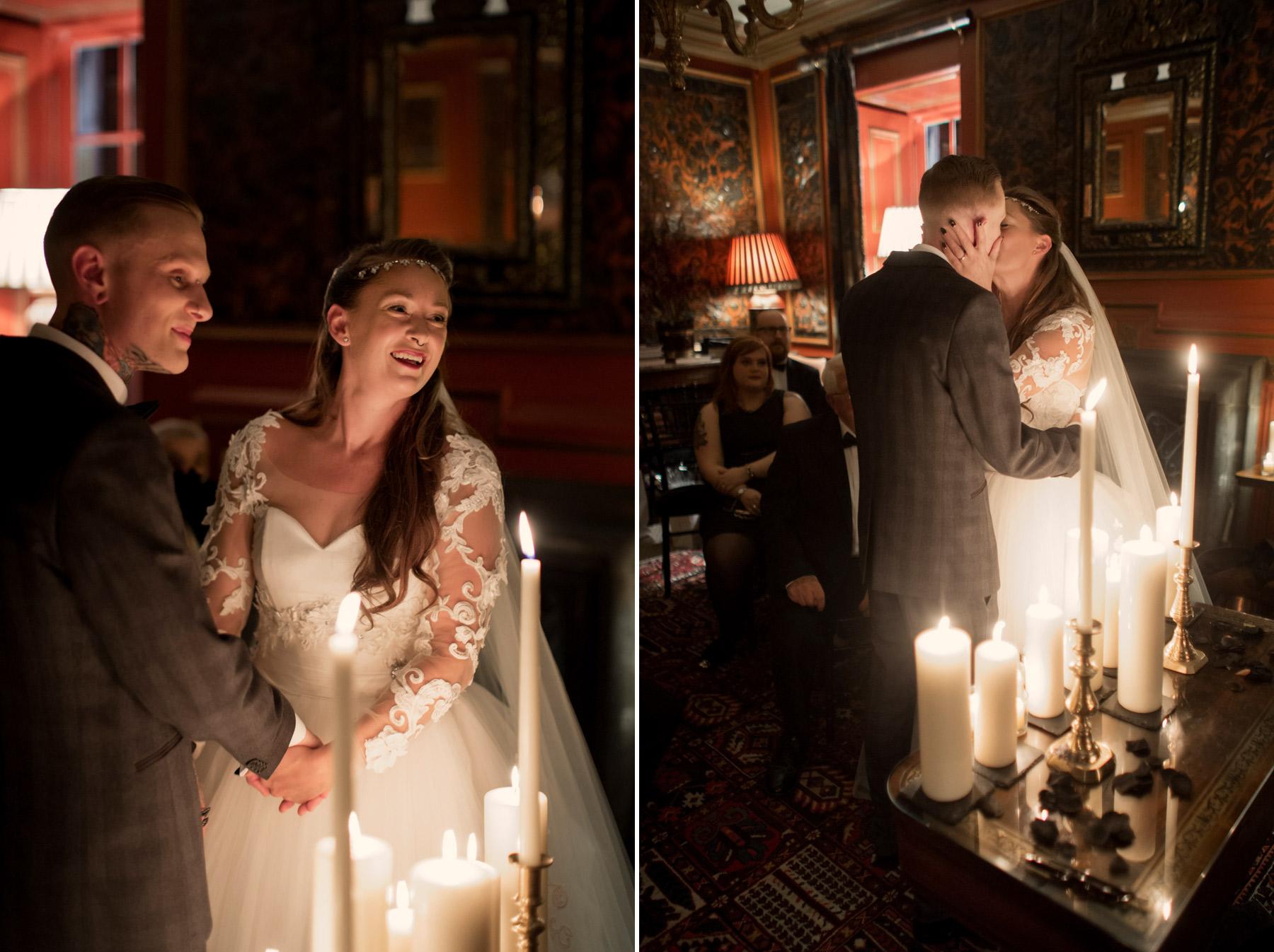 first kiss wedding scotland