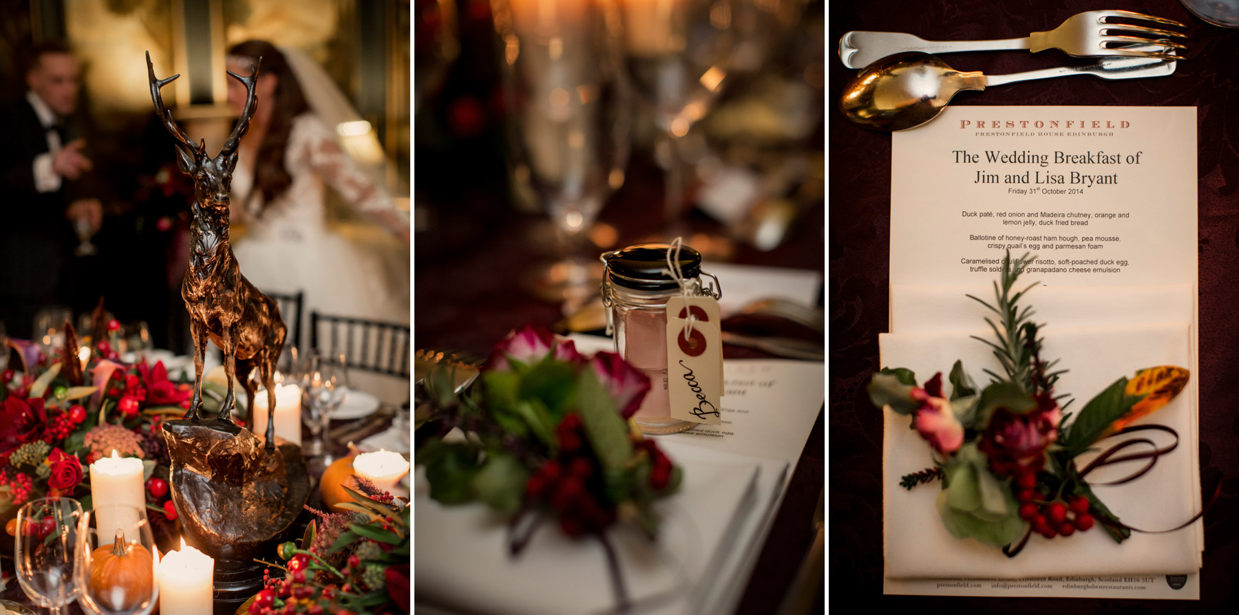 table setting wedding at prestonfiled house