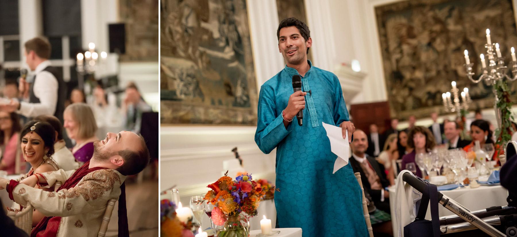 Best man's speech at wedding Hopetoun House Scotland