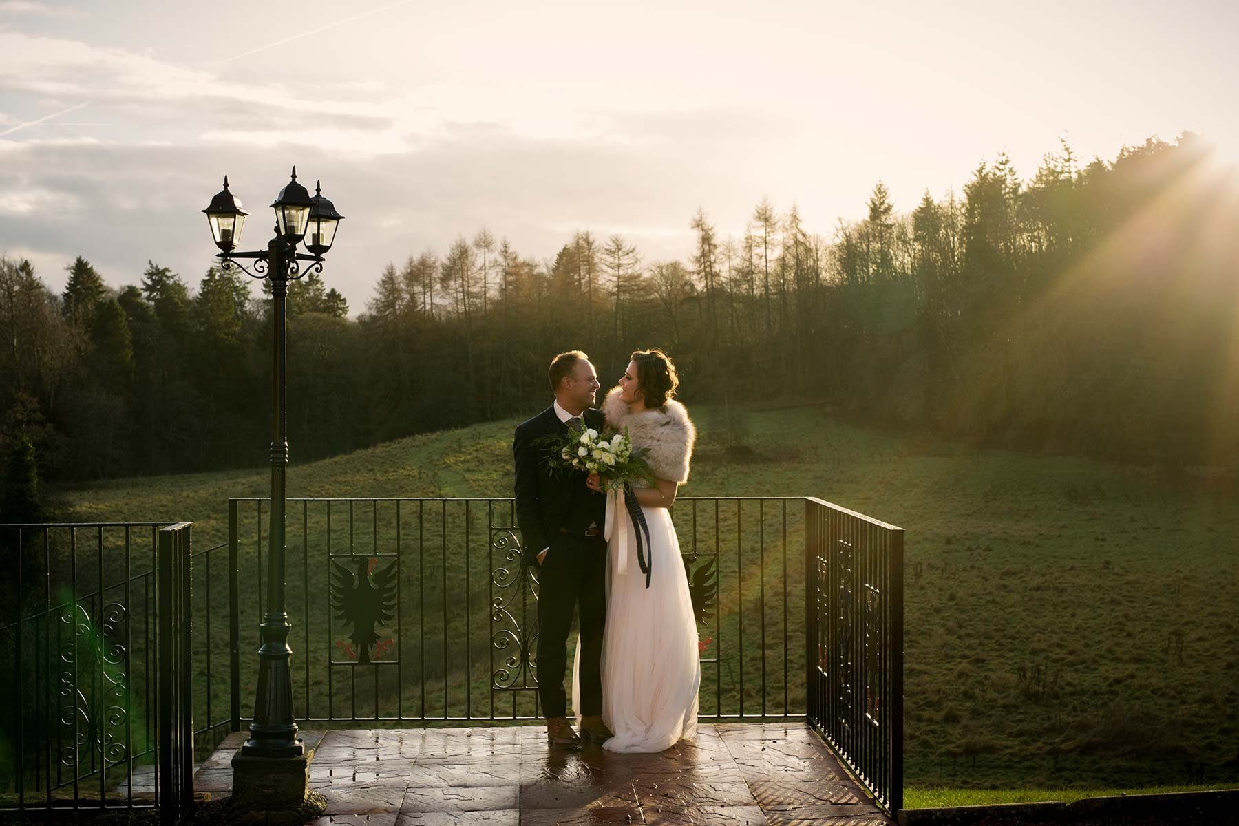 Edinburgh Christmas elopement wedding photography