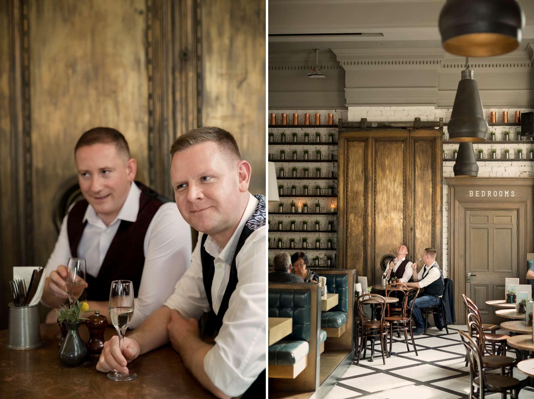 engagement session, Edinburgh, Inn on the mile, gay, portraits,