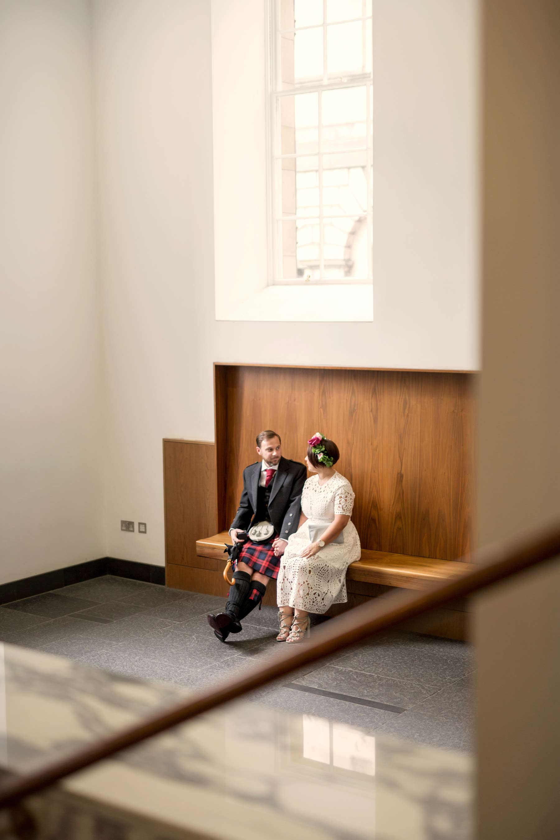 Bride, groom, elopement, Lothian Chambers, wedding, Edinburgh
